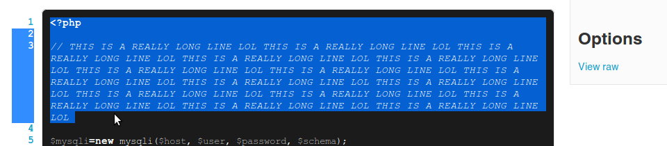 This is not what was meant by syntax highlighting